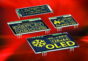 World's first OLED displays with pins for fast mounting