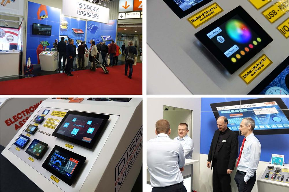 embedded world booth with displays from ELECTRONIC ASSEMBLY