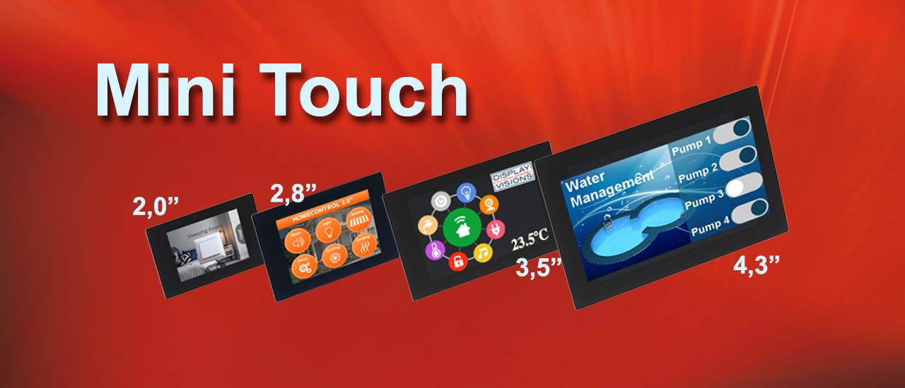 Simply buy miniDisplays with or without intelligence and touch panel