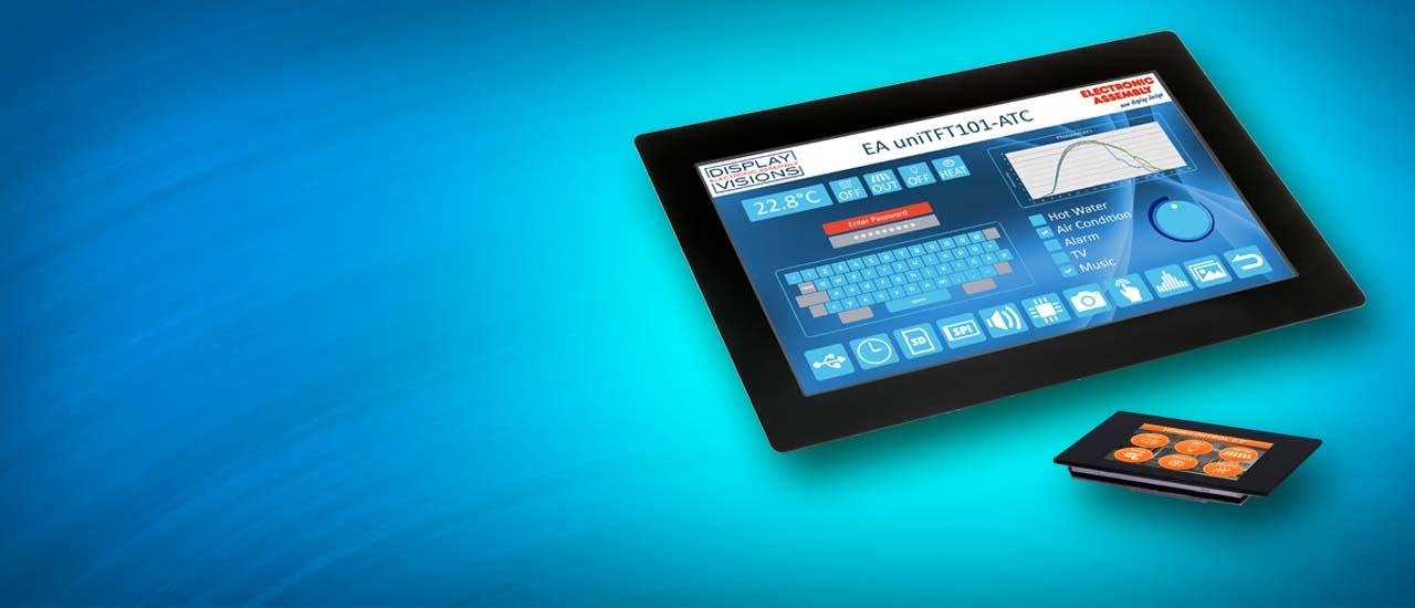 Touch screen modules as HMI